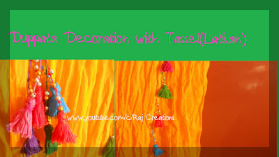 how to make tassel for dupatta