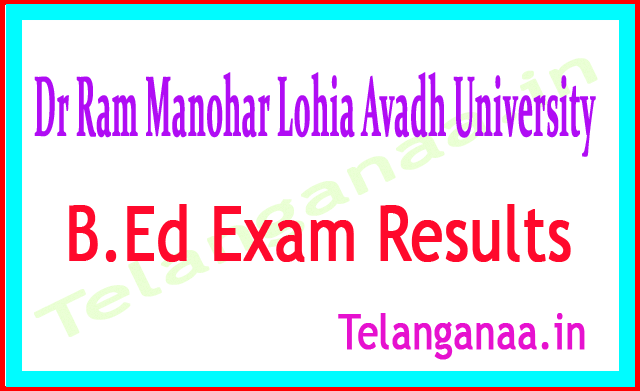 Dr Ram Manohar Lohia Avadh University B.Ed 2nd Year 2018 Exam Results