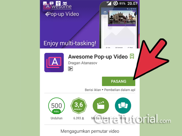 Unduh Awesome Pop-up Video di play store