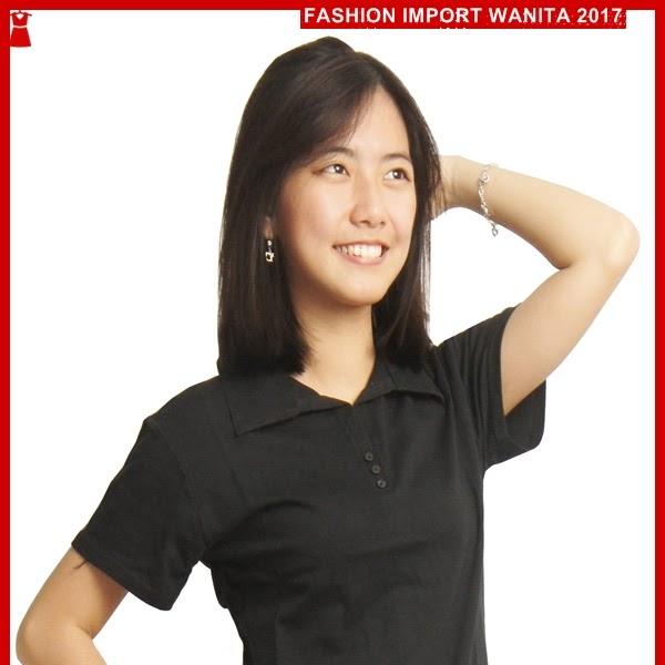 ADR131 Kaos Wanita Hitam Polo Wanita Import BMGShop
