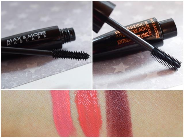 die Edelfabrik, Review der Marke Max + More Mascara, Lippenstift, Swatch