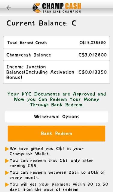 Champcash से पैसे कैसे कमाये और Bank Transfer कैसे करे
