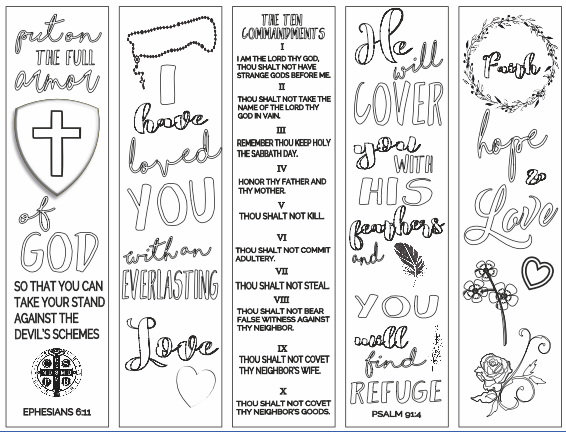 image regarding Free Printable Bible Bookmarks to Color named Christian Analysis Instruments: Cost-free Bookmarks