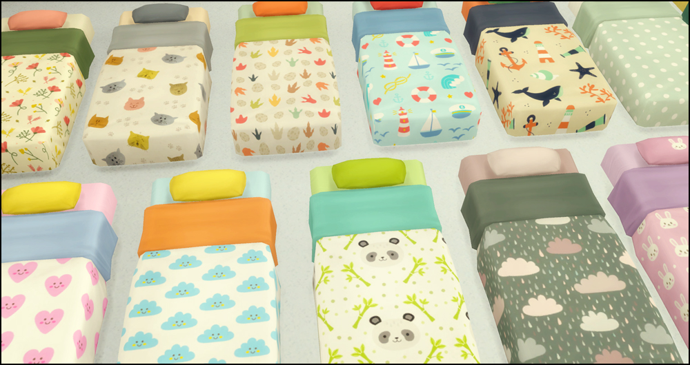 My Sims 4 Blog Toddler Mattress Recolors By Martine