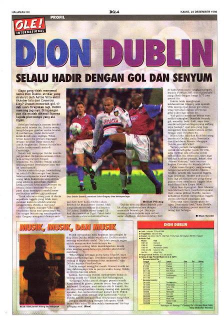 ASTON VILLA DION DUBLIN PROFILE