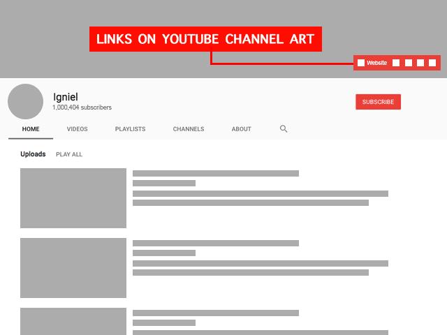 Cara Menambahkan URL Blog di Header Banner Cover Atas Youtube