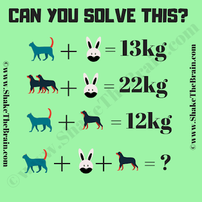 In this Math Picture Puzzle, your challenge is to find the value of the missing sum.