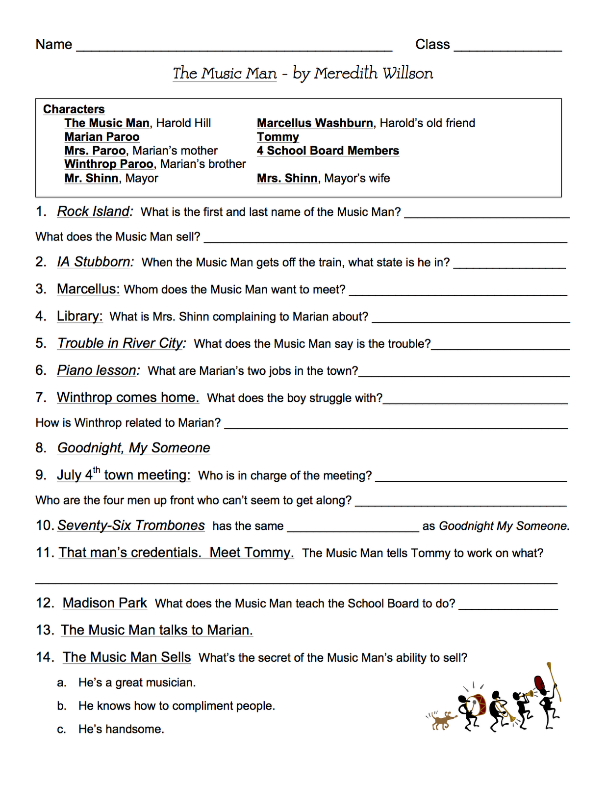 Miss Jacobson S Music Music Man Musical Report Page 3