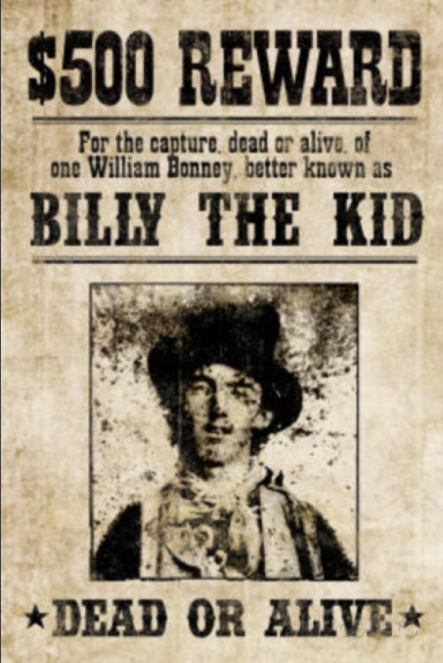 Immortalized Teenage Outlaw of the Southwest 16 Cool Wanted – Real Wanted Poster