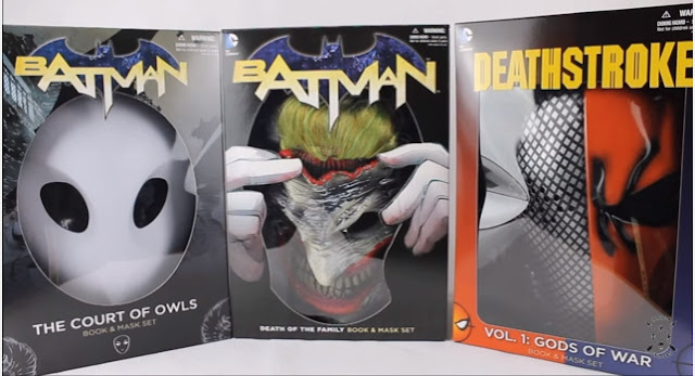 dc comics mask set