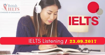 IELTS LISTENING PRACTICE TEST 2017 WITH ANSWERS | 23.09.2017
