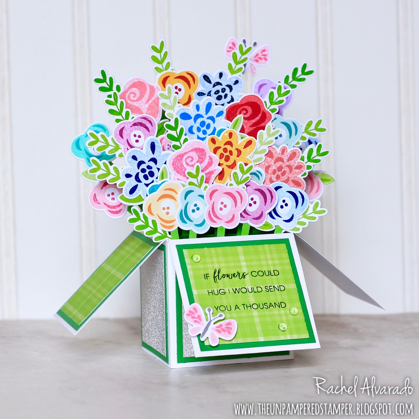The Unpampered Stamper: Birthday Box Card - Bouquet of Flowers