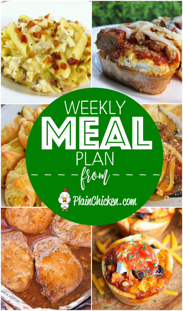 What's For Dinner? {Weekly Meal Plan} - a quick and easy recipe for everyday of the week! Main dishes, side dishes and dessert. Something for everyone! All recipes are easy to make and taste delicious!