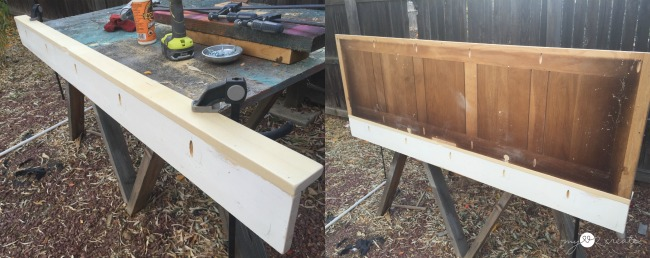 attaching a ledge to the chalkboard shelf