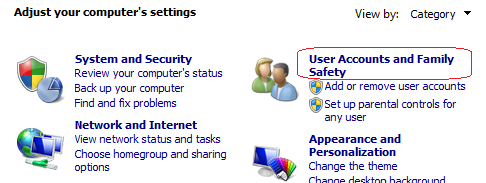 Membuat dan merubah Password user login di Windows 7