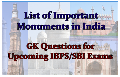 Important Historical Monument in India