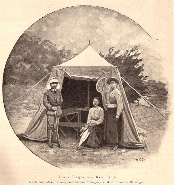 A Princesa em sua tenda.