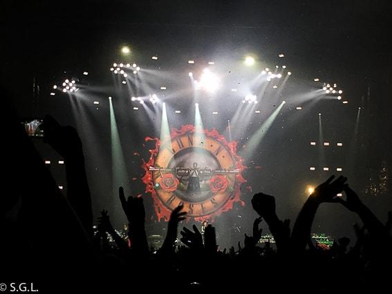Escenario del concierto Guns and roses