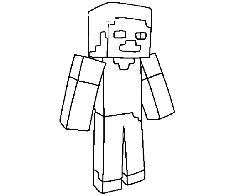 minecraft coloring pages - photo #32
