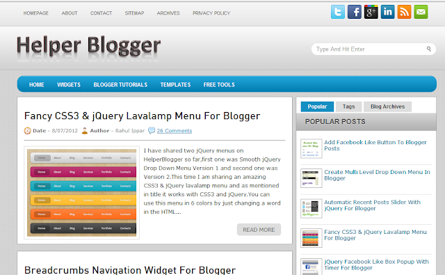 helper for blogger