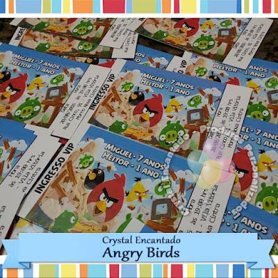 Convite Angry Bird