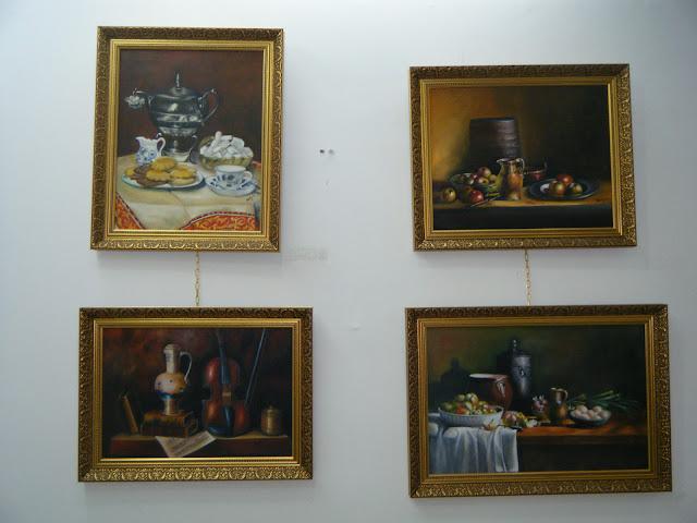 Les peintures de mes élèves à l'expo 16