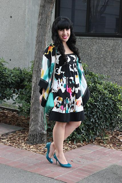 Diane von Furstenberg Leena Dress Art Gallery Outfit