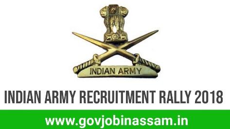Indian Army Recruitment Rally 2018,govjobinassam