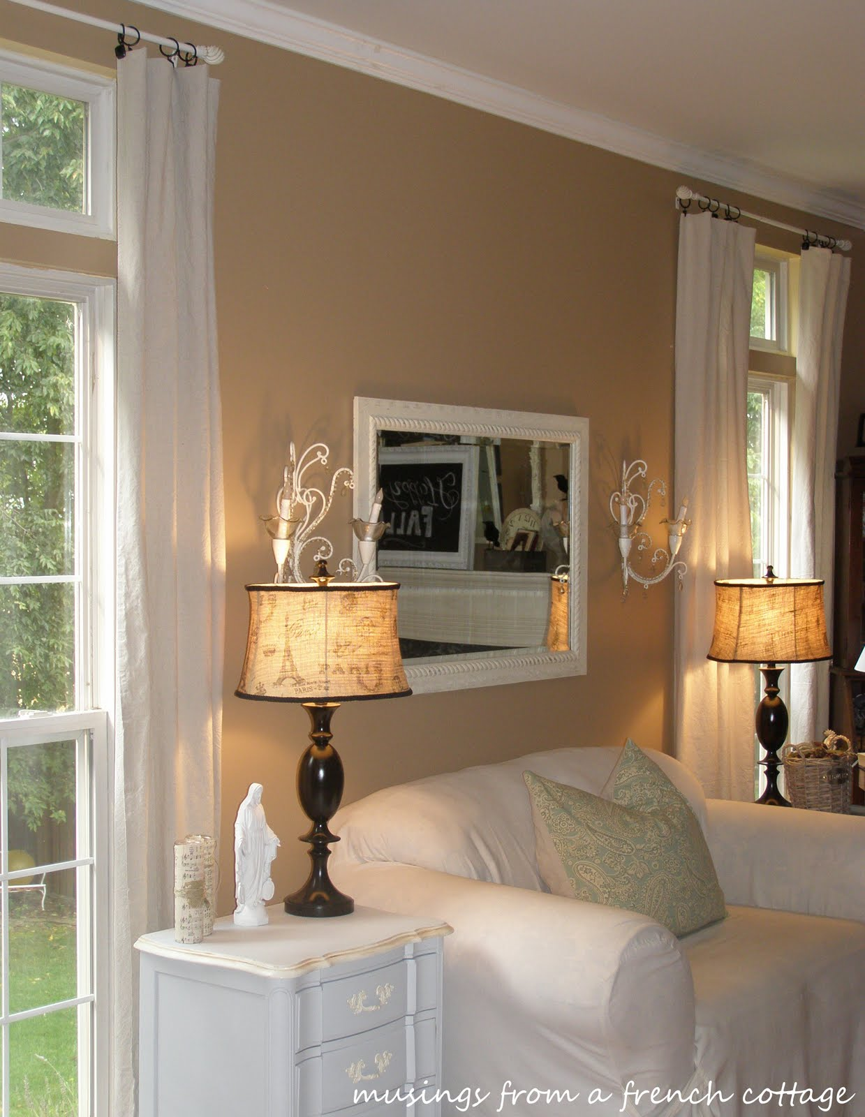 Musings From A French Cottage Painter S Drop Cloth Curtains