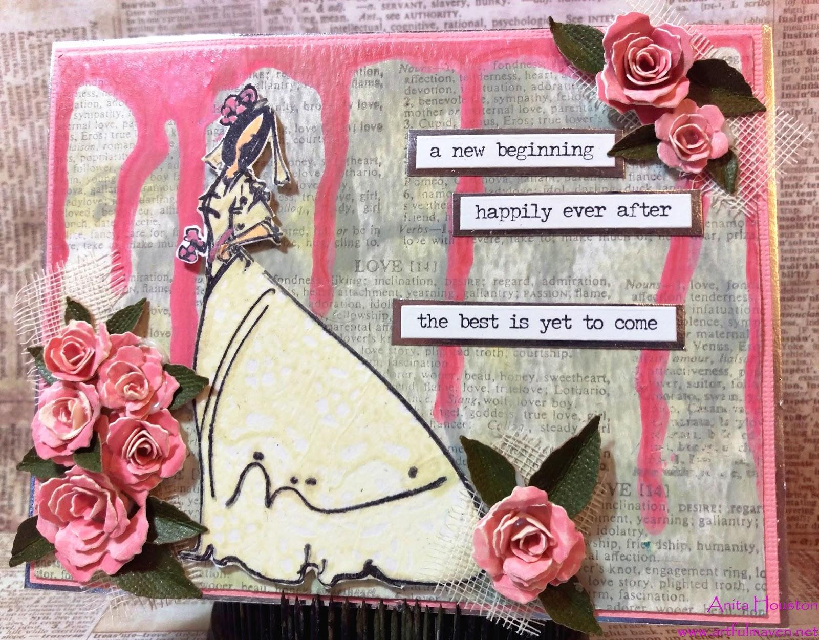 The Artful Maven Pretty In Pink Wedding Card