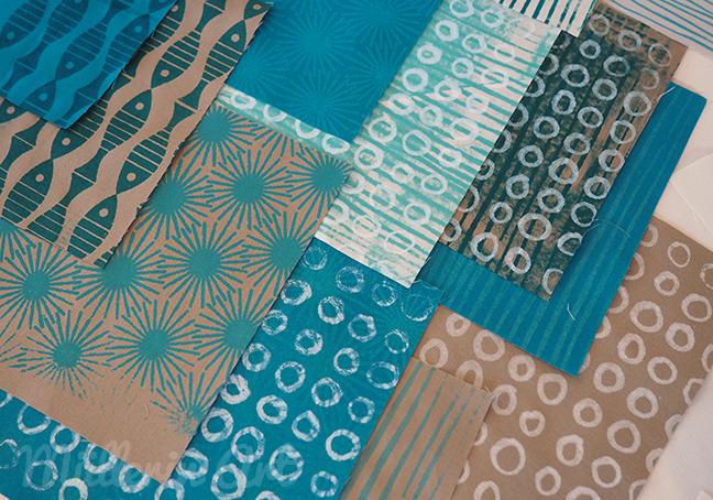 Siebdruck, Stoffdruck, lalala patchwork, siebdruckschablonen ©muellerinart