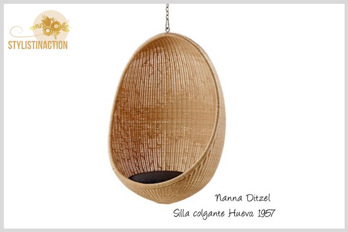 silla colgante huevo post estilo nordico o escandinavo