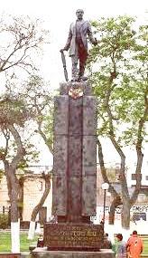 Foto de estatua de Pedro Ruiz Gallo