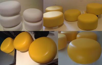 imitacion de quesos, quesos de telgopor, quesos falsos