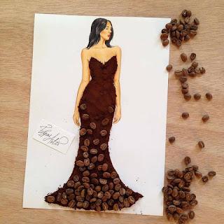 رسمة للفنان إيدجر باستخدام حبات البن