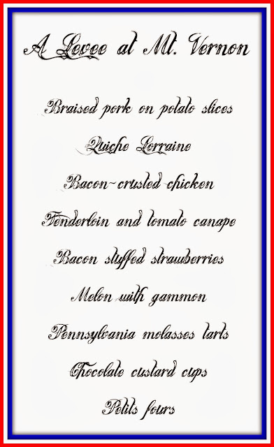sample levee menu