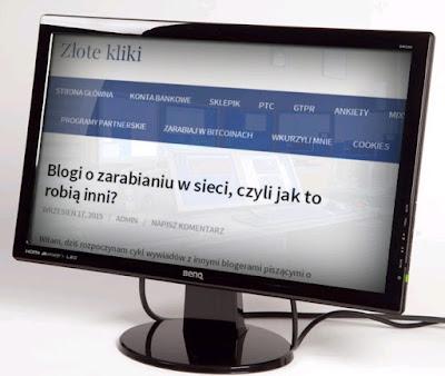 Cykl wywiadów z blogerami na blogu ZloteKliki.pl