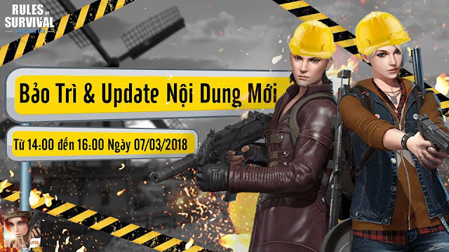 Thông Tin Update Rules of Survival 07/03/2018