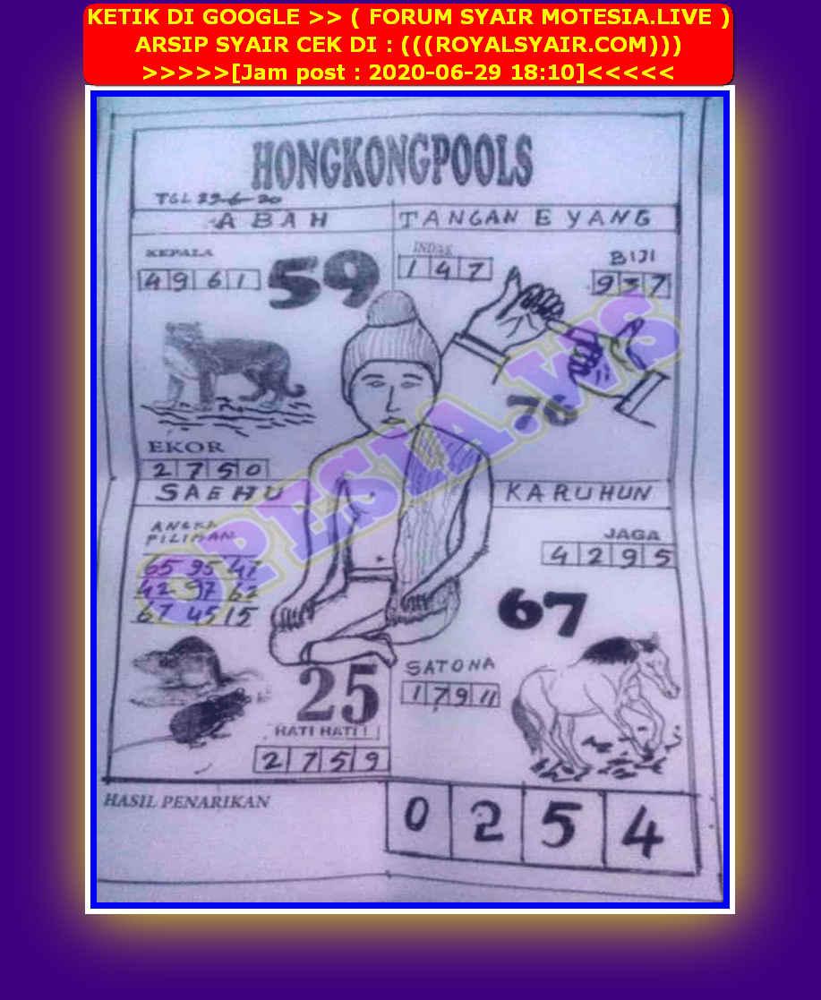 Kode syair Hongkong Senin 29 Juni 2020 37