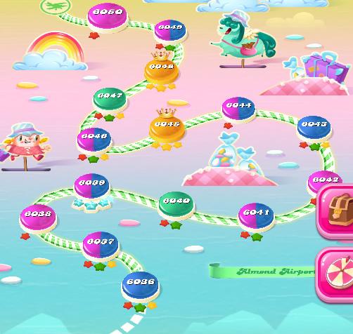 Candy Crush Saga level 6036-6050