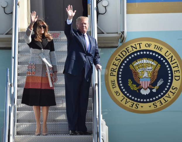 Photos: President Trump arrives in Japan, the first in his five-country Asian tour