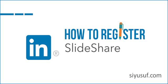 Cara Daftar di SlideShare