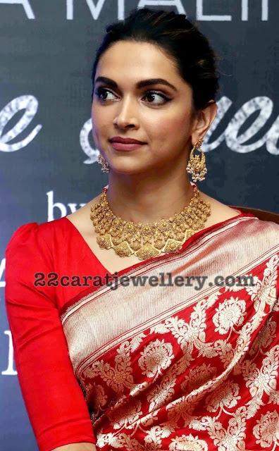 Deepika Padukone in Sabyasachi Jewellery