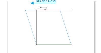 Klik dan Geser objek persegi