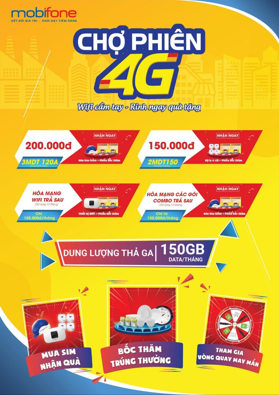 Chợ phiên 4G - Nhiều ưu đãi cùng quà tặng hấp dẫn tổ chức 23&24/5 tại chợ Láng Tròn, Bạc Liêu