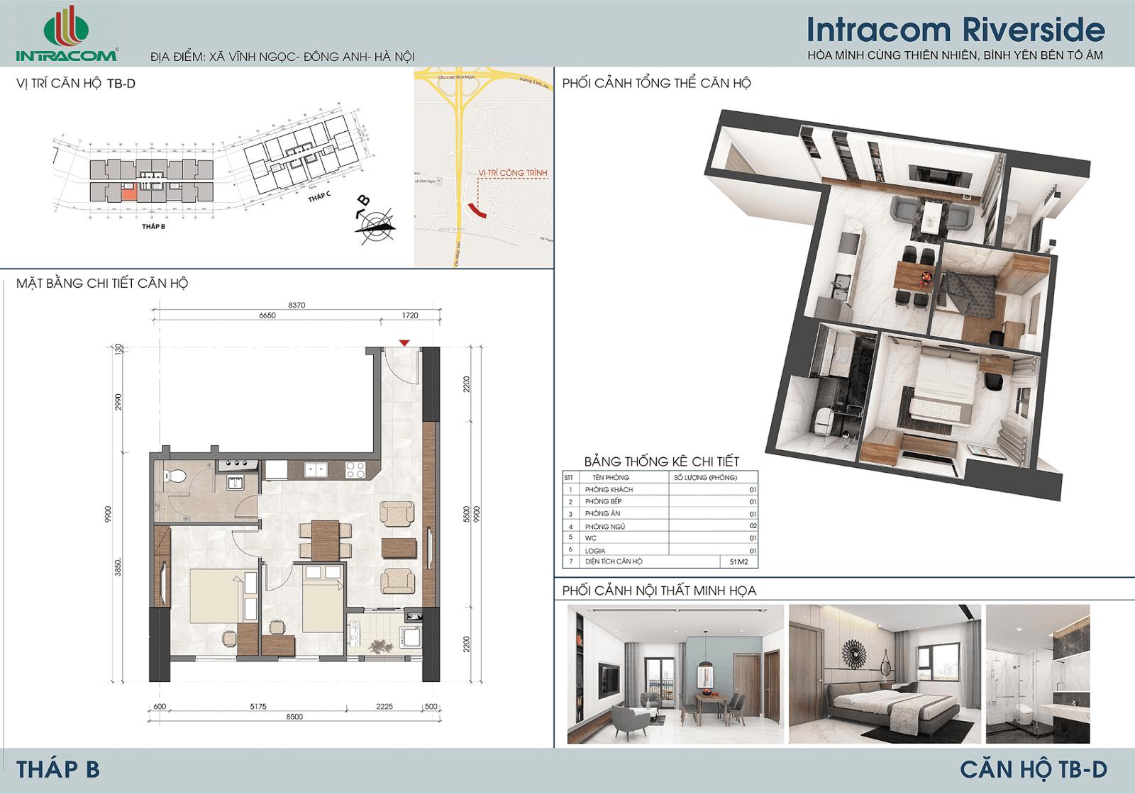 Thiết kế căn 11 - 14 - 64m2