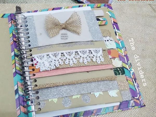 DIY: Vintage Binder with Divider (Re-design Old Binder)