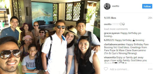Bossing Vic Sotto Celebrates His Birthday In Balesin With Wife Pauleen And Kids Danica, Oyo, Vico And Paulina!