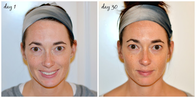 neutrogena, skin care, fine lines, wrinkles, even skin tone, before and after, side by side