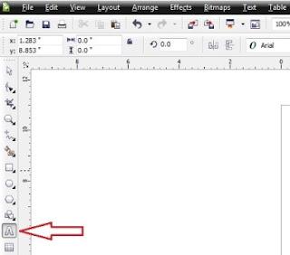 Lalu klik Menu > File Klik lagi di bawahnya > New,. 4. >> Selain langkah ketiga ( 3 ), sahabat juga bisa membuka halaman baru dengan klik > Icon New Page, perhatikan gambar di atas yang dilingkari. 4. >> Kemudian sahabat akan melihat halaman kerja corel draw yang kurang lebih sama dengan tampilan kertas selembaran.